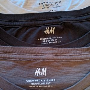 H&M Crewneck T-shirts Regular Fit
